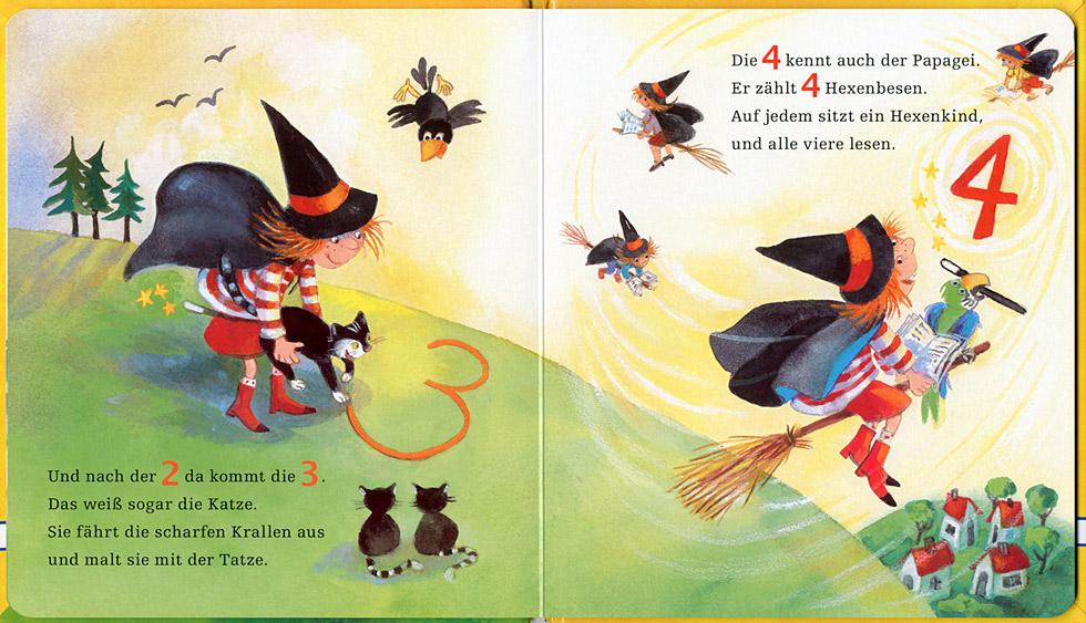 Jutta Timm Kinderbuchillustratorin 1 2 3 Zahlenhexerei